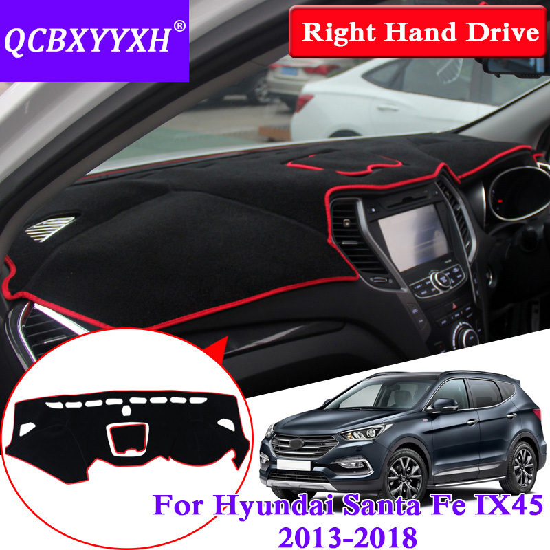 For Hyundai Santafe IX45 2013 2018 Right Hand Drive Dashboard Mat Protective Interior Photophobism Pad Shade Cushion Car Styling