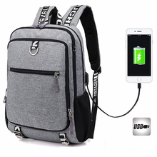 Купить с кэшбэком New Men Youth Fashion Multifunctional Oxford Casual Laptop Backpack School Usb Charge Waterproof Travel Bags Male Bolsa Kanken