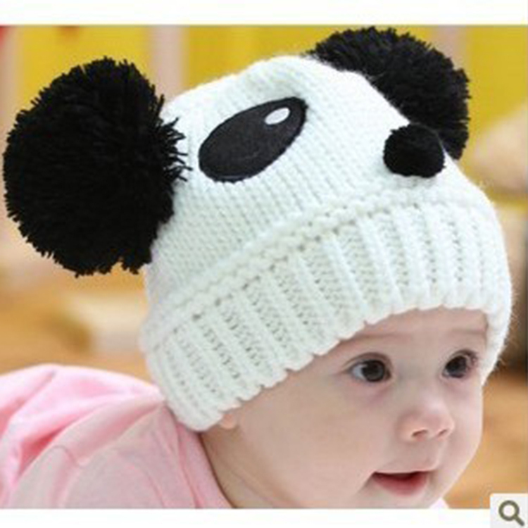 8800a3f34f8df BB Baby Beanie Kids Hat Photograph Props Panda Animal Gorros Bebes Caps For  Children Boy Girl Elastic Knit Wintter Autumn Hats-in Hats   Caps from  Mother ...