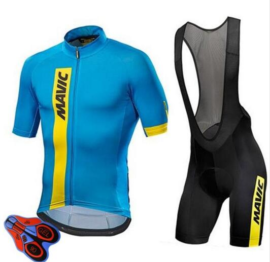 Mavic 2019 Pro Team Cycling Clothing /Road <font><b>Bike</b></font> <font><b>Wear</b></font> Racing Clothes Quick Dry Men's Cycling Jersey Set Ropa Ciclismo Maillot image