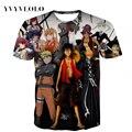 YVYV2016Newest 3d Hombres de la camiseta de Una Pieza Naruto Pokemon 3D impreso de manga corta de impresión camisetas de verano tops camisetas envío gratis