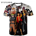 YVYV2016Newest 3d t shirt Men One Piece Naruto Pokemon 3D printed short-sleeved print t shirts summer tops tees free ship
