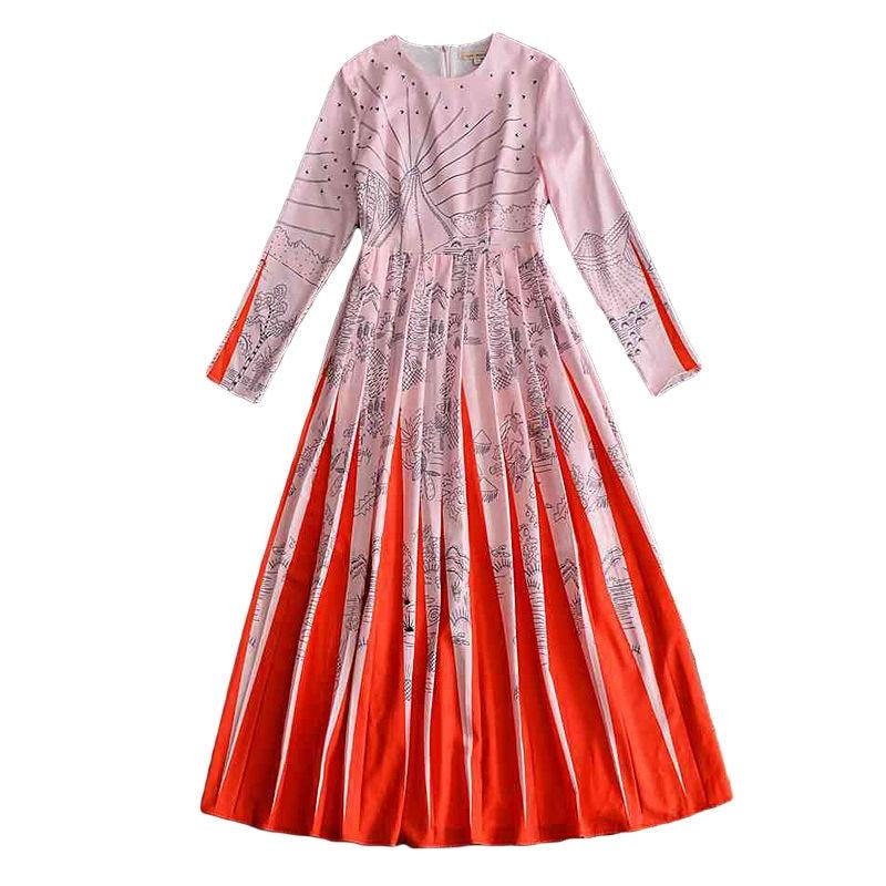 Gara kleita Jauns augstas kvalitātes skrejceļš 2018 pavasara - Sieviešu apģērbs - Foto 3