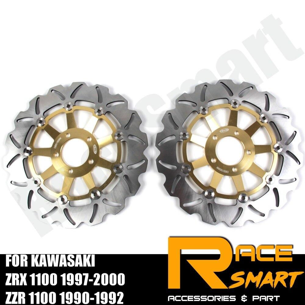 Disques de frein avant moto disques disques de frein pour KAWASAKI ZRX1100 1997-2000 ZZR 1100 1990-1992 ZRX-1100 ZRX 1100 ZZR1100