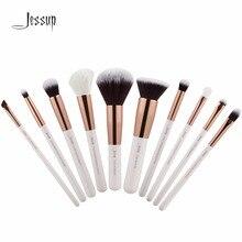 2017 Jessup 10pcs Brushes Professional Makeup Brushes Set Makeup Brush Tools kit Foundation Powder Buffer Cheek Shader T216
