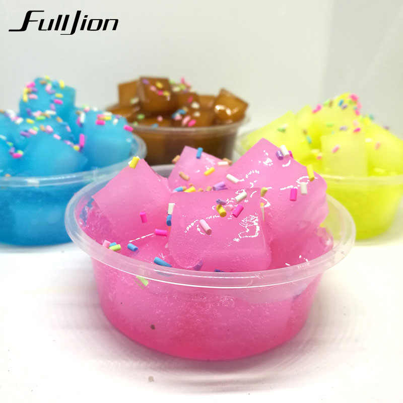 Fulljion Slime Toys Crystal Polymer Fruit Clay Fluffy Box Lizun Putty Plasticine Toy Stress Relief  Rubber Fimo Novelty Kid Gift