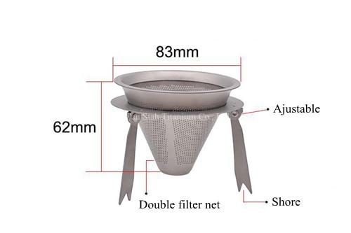 Pure Titanium Enkele Muur 950 ml Koffie Maker 230g + Filter + 3 stks 100 ml Dubbele Wand Mokken 49 g/stk Gezonde Geen nemende Anti corrosie - 3