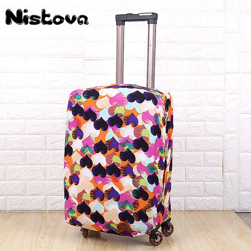 Hot Fashion Travel On Road Luggage Suitcase Protective Cover Trolley Case Luggage Dust Cover Travel Accessories For 18-28inch