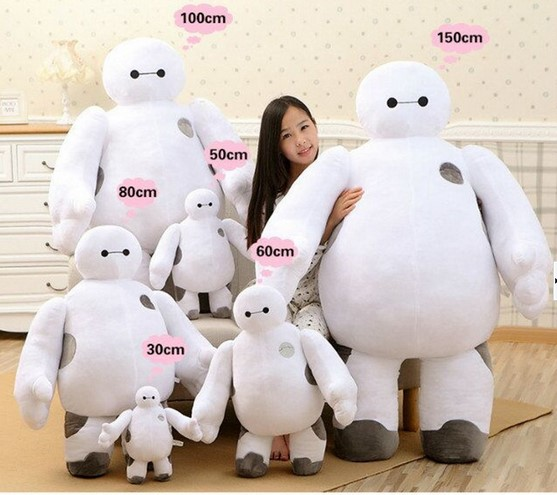 2016 New Big Hero 6 Baymax Plush Doll font b Toy b font Robot 18 40cm