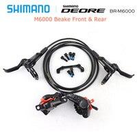 SHIMANO DEORE M6000 Brake Mountain Bikes Hidraulic Disc Brake MTB BR BL M6000 DEORE Brake 800/1400 Left & Right