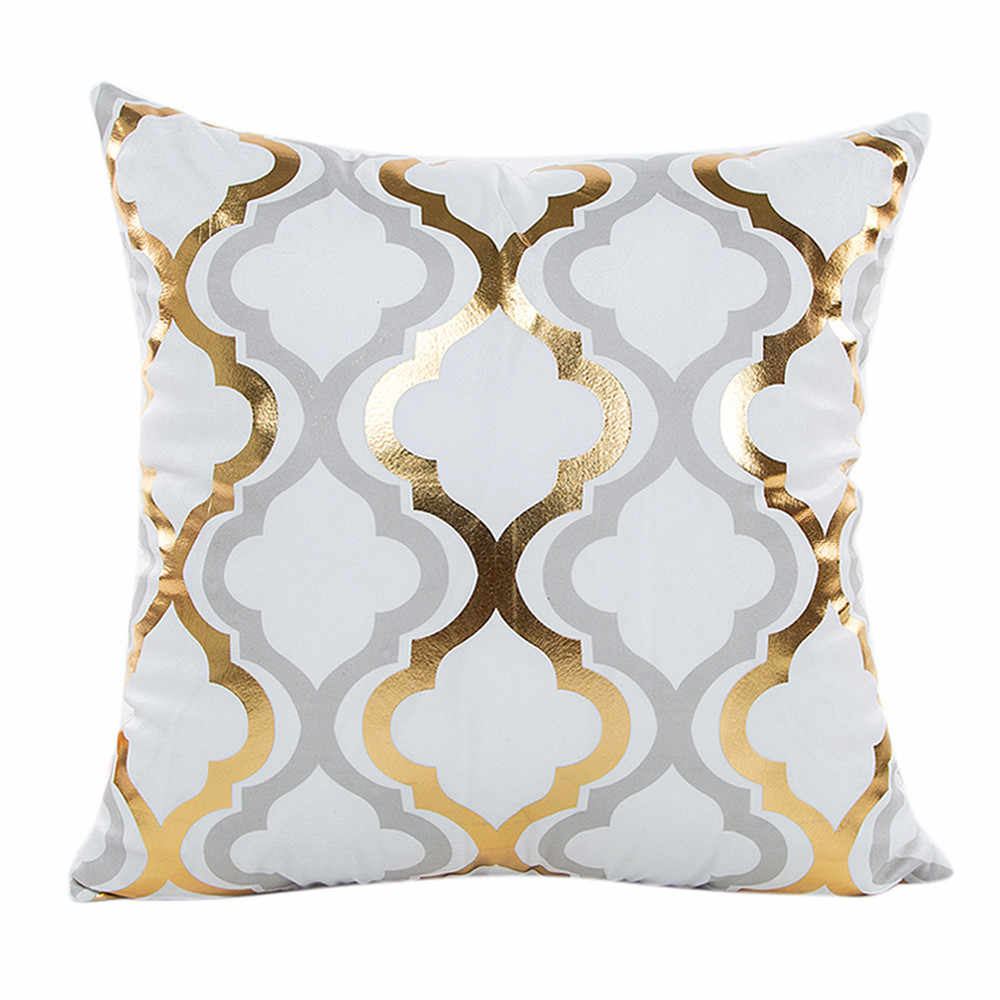 Gajjar Pillow Case Gold Foil Printing Pillow Case Waist Throw  Home Dropshipping support pillows for neck