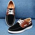Zapatos de los hombres ocasionales con cordones de Los Hombres zapatos Versión Coreana Del estilo de la moda de cabeza redonda zapatos planos Cómodos Mocasines