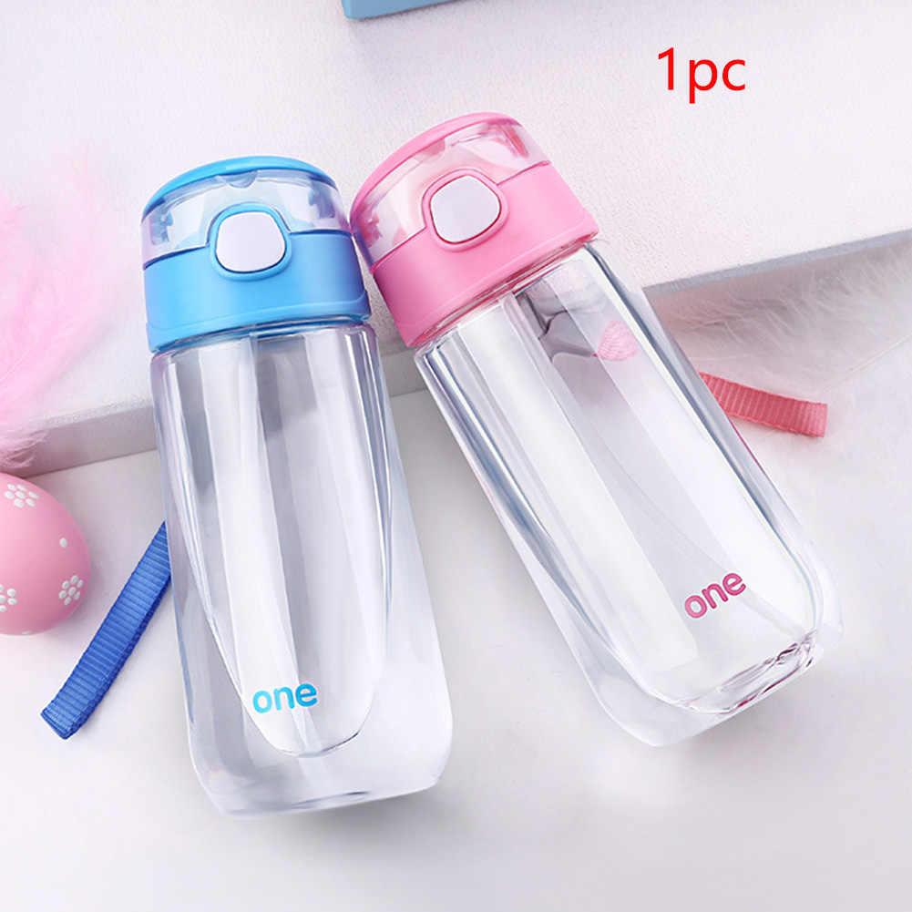 Мультфильм мальчиков чашка для девочек Спорт на открытом воздухе Питьевая Детская школьная бутылка для воды для студентов с соломенным соком портативный милый подарок