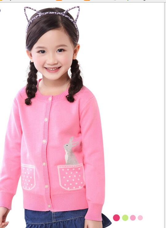 Knit Sweater Cardigan Coat Spring Autumn Casual O Neck Cotton Girl Sweater S054