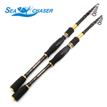 Carbon M power lure 7g -28g 1.8M - 2.7M Portable Telescopic Fishing Rod Spinning Fish Hand Fishing Tackle Sea Rod