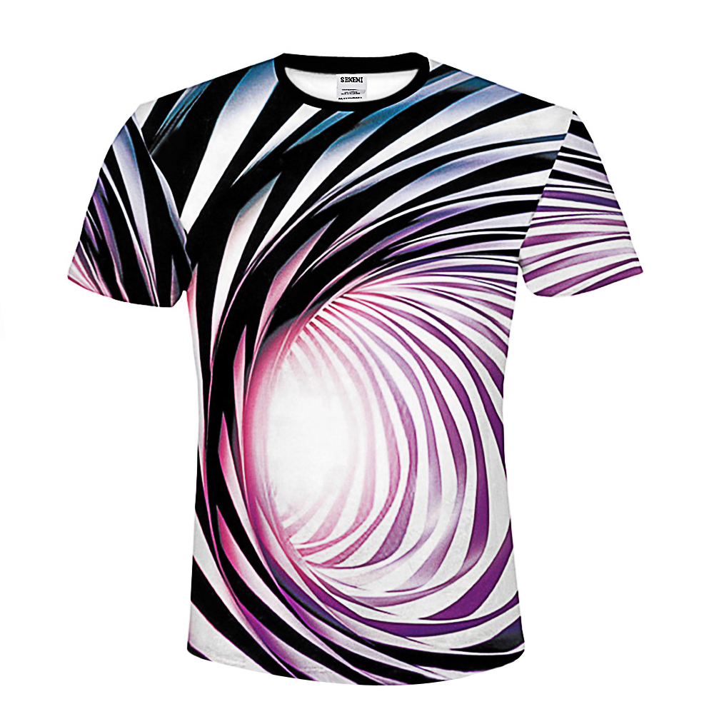 Dizziness T shirt Men Vortex Funny T shirts Clothes Hypnosis 2018 Summer Mens Clothing Casual Printed Tshirt 3d T-shirt Graphic(China)