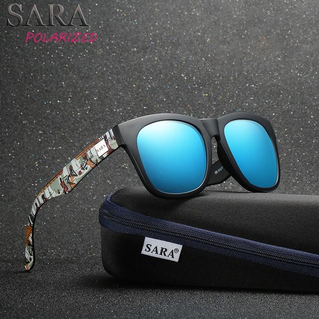 38b8a67da1ba9 SARA 2018 New Polarized Sunglasses Men Square Sun Glasses Women Brand  Designer Coating Mirror Polaroid Lens Shades Female UV400