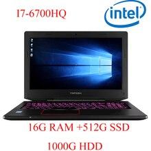 """P6-10 16G DDR4 RAM 512G SSD 1000G HDD i7 6700HQ AMD Radeon RX560 NVIDIA GeForce GTX 1060 4GB 15.6 gaming laptop"""""""