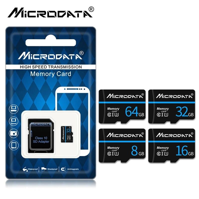 micro sd Memory card 64GB 32GB 16GB 8GB 256gb 4gb microsd flash TF card map mini cards with package free SD adapter