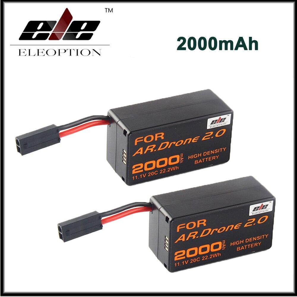 2&#215;2000 мАч 11.1 В мощный литий-полимерный Батарея для Parrot AR. drone 2.0 <font><b>Quadricopter</b></font> высокой плотности Батарея