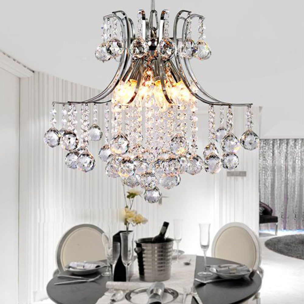 Modern elegant crystal chandelier ceiling hanging light for living modern elegant crystal chandelier ceiling hanging light for living room bedroom bar wedding decor lighting light fixture in chandeliers from lights arubaitofo Choice Image