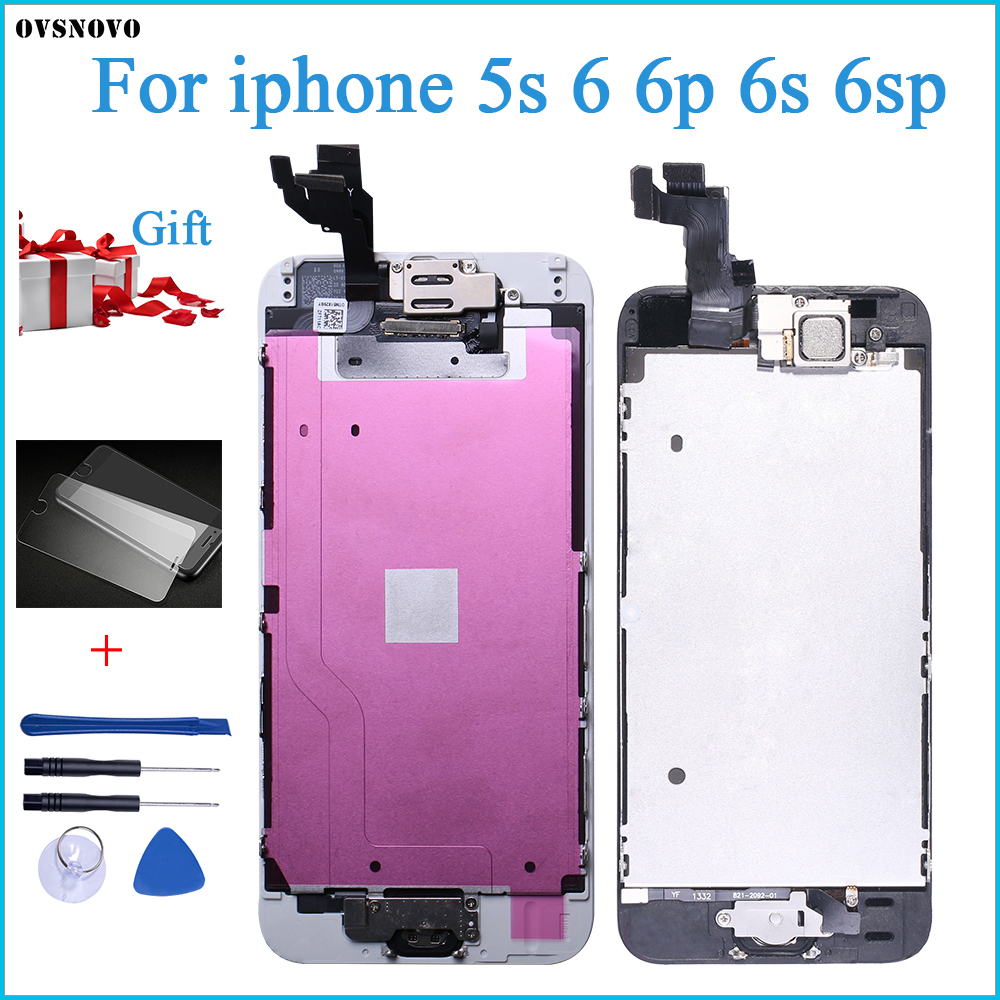 newest collection c7a08 4cc80 AAA+++ Full Assembly For iPhone 6 6S Plus LCD With Camera Home Button  Completed Screen Replacement ...