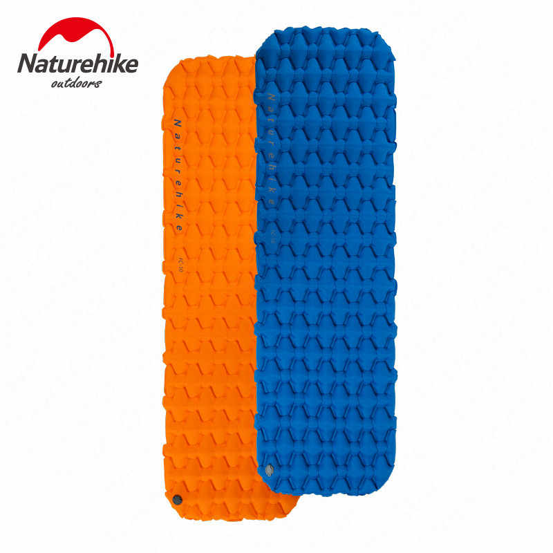 NatureHike Inflatable Sleeping Pad dengan Air Bag Kasur Kolam Camping Mat Ultralight Tenda Portable Camp Kelembaban-Bukti Pad