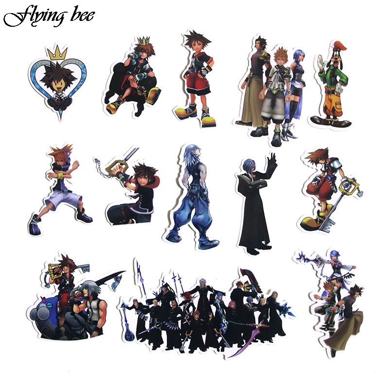 Image 5 - Flyingbee 50 Pcs Kingdom Hearts Waterproof Stickers Kids Toy Sticker for DIY Luggage Laptop Wall Car Phone Decoration X0038-in Stickers from Consumer Electronics