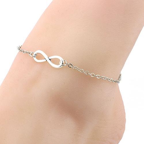 Women 8-Shape Barefoot Anklet Chain Bracelet Foot Jewelry ankel beach bracelets tobilleras pulsera para tobillo feet jewelry