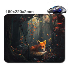 HOT SALES Custom Antiskid 3 D Fondos De Pantalla Zorros Mouse Pad  220X180x2mm Office Accessory Tablet  And Gift