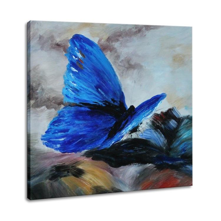 arte moderno de la pared pintura de animales de alta calidad azul de la mariposa pintura