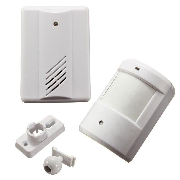 Nueva seguro inalámbrico por infrarrojos Timbres de puerta sistema de alarma del sensor de movimiento de la seguridad casera Seguridad patrulla garaje