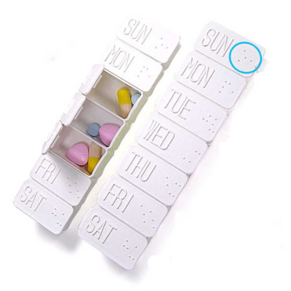 2019 Newest 7 Days Pill Box Holder Weekly Medicine Storage Organizer Container Case