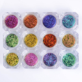1 Box Shinning Nail Glitter Powders Gorgeous Manicure Nail Art Starry Sky Glitters 12 Colors #8341189