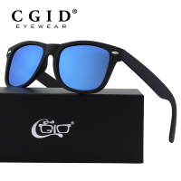 CGID Wayfare Sunglasses With Black Frame And Polarized UV400 Lens For Men And Women MJ40