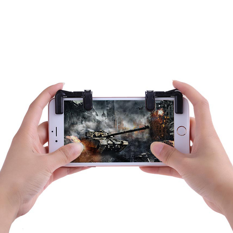 VODOOL 2pcs Mobile Phone Game Joysticks Gamepad For PUBG STG FPS TPS Games Button Phone Shooting Game Controller Assist Tools