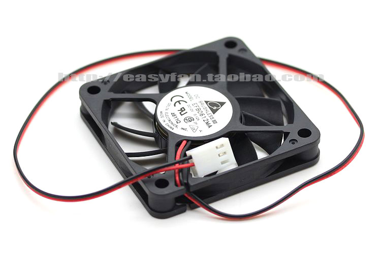 Delta EFB0612MA DC 12V 0.12A 60x60x10mm Server Square fan
