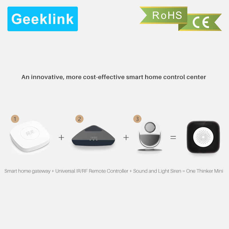 Geeklink Thinker Mini Smart Remote WiFi+IR+RF Control Center Compatible  with Amazon Alexa and Google Home App control by phone