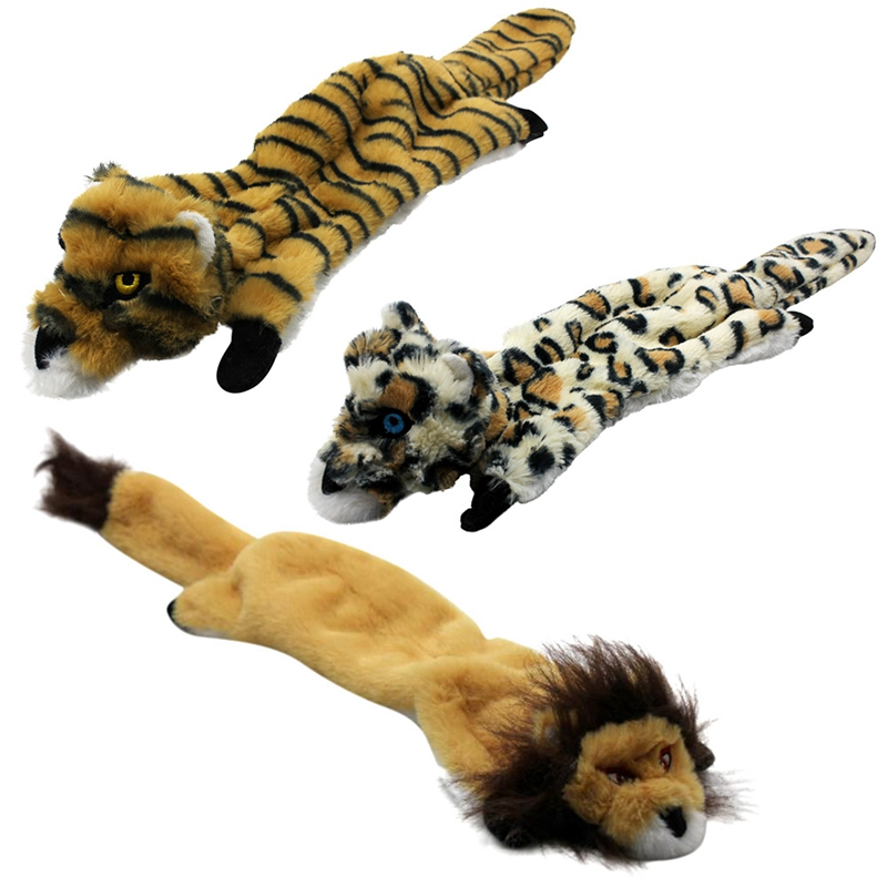 Cute Plush Toys Squeak For Dogs Chew Squeaker Pet Squeaky Animal Shaped Toy Squirrel  Dog Cat Toy Pet Supplies 19