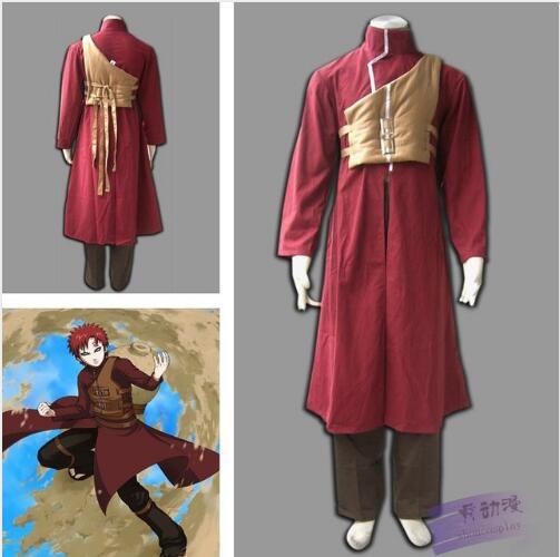 adult Halloween costume for men naruto Sabaku no Gaara cosplay costume anime clothes Carnival costume for boys Custom made