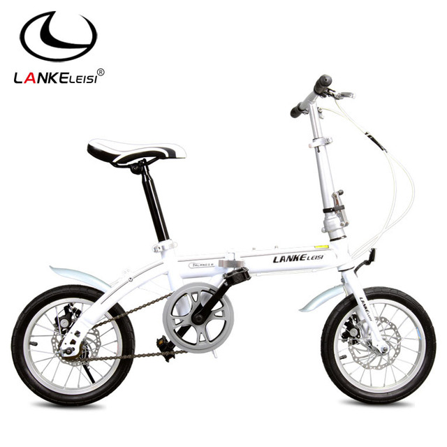 buy 14 inch folding bicycles double disc. Black Bedroom Furniture Sets. Home Design Ideas
