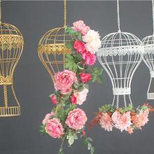Европейский стиль Железный арт подвесная корзина цветочный горшок балкон наружная подвесная Корзина Висячие цветы и растения подвесная корзина