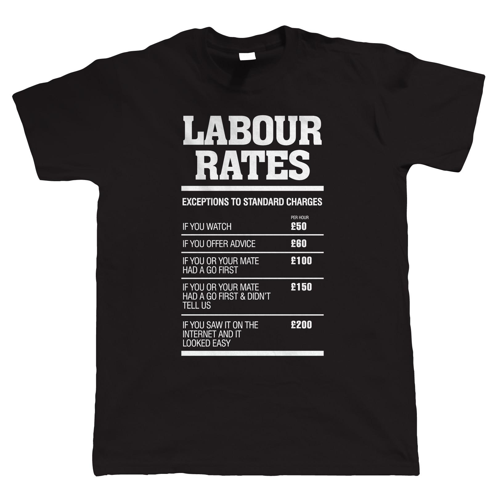 Shirt design rates - Shirt Design Crew Neck Men Design Short Sleeve Labour Rates Mechanic Plumber Electrician Builder T Shirts