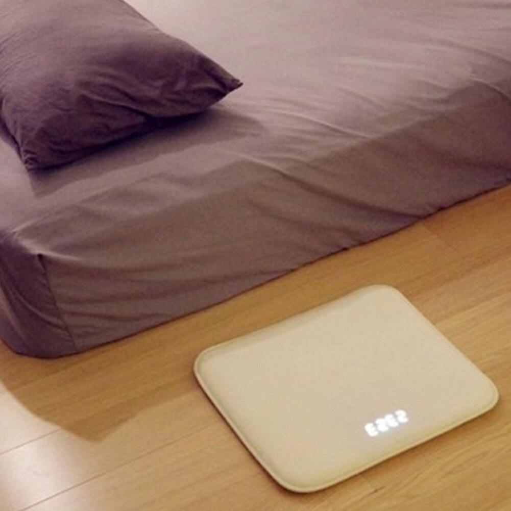 Sensibilité à la pression alerte couverture horloge numérique réveil tapis électricité horloges chambre anti-dérapant résistant à l'usure tapis souple