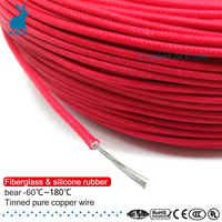 50m 100m 10AWG Fiberglass silicone Rubber wire Multiple strands of pure copper wire Household Power cable