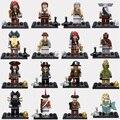 16 unids Piratas del Caribe Capitán Jack Sparrow figuras de acción Bloques de Construcción para niños juguete Kid Regalo de Ladrillo Compatible
