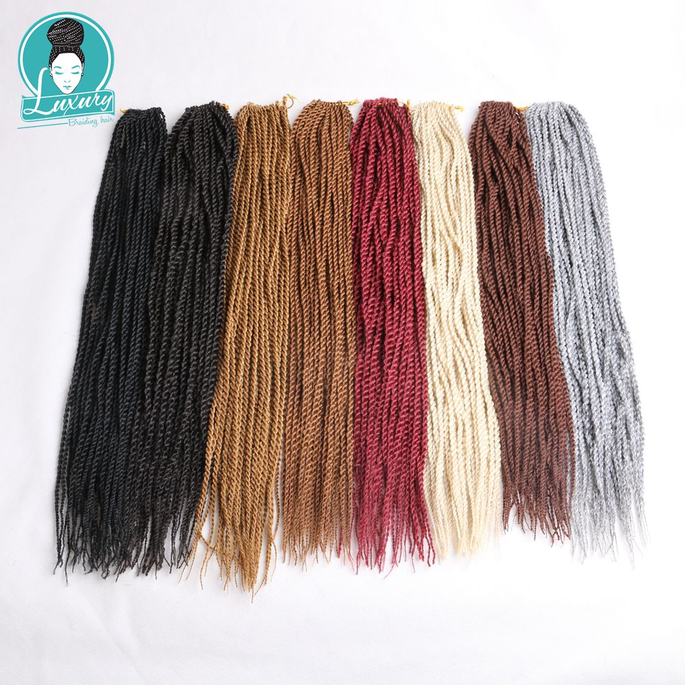 Luxury For Braiding 7packs 22 quot 5mm 100g 32roots pack Synthetic Hair Ombre Blue Grey Senegalese Twist Crochet Braids in Senegalese Twist Braids from Hair Extensions amp Wigs