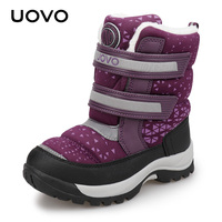 Water Repellent Boots Kids Winter Snow Boots UOVO New Children Warm Outdoor Boots Boys and Girls With Plush Fluorescence #29 37