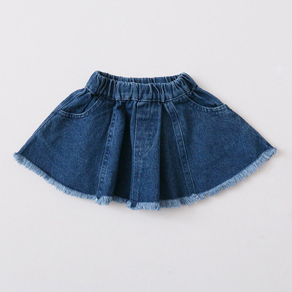 2017 spring and summer new style girls pocket denim skirt children skirt baby infant fashion tutu skirts