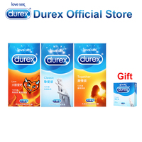 Buy 3 Get 1 Gift Durex Classic Condoms Super Fire Ultra Thin Penis Sleeve Safe Adult
